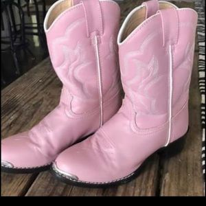DURANGO - 8D Leather Pink Girls Cowboy Boots